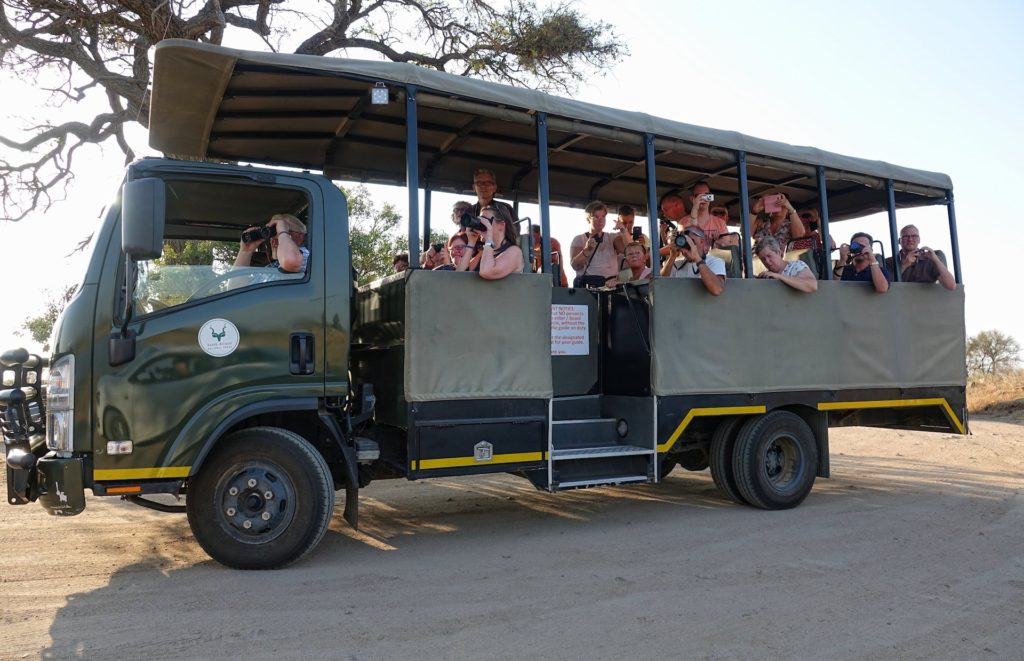 Photo of guided safari in Kruger Park, South Africa.
