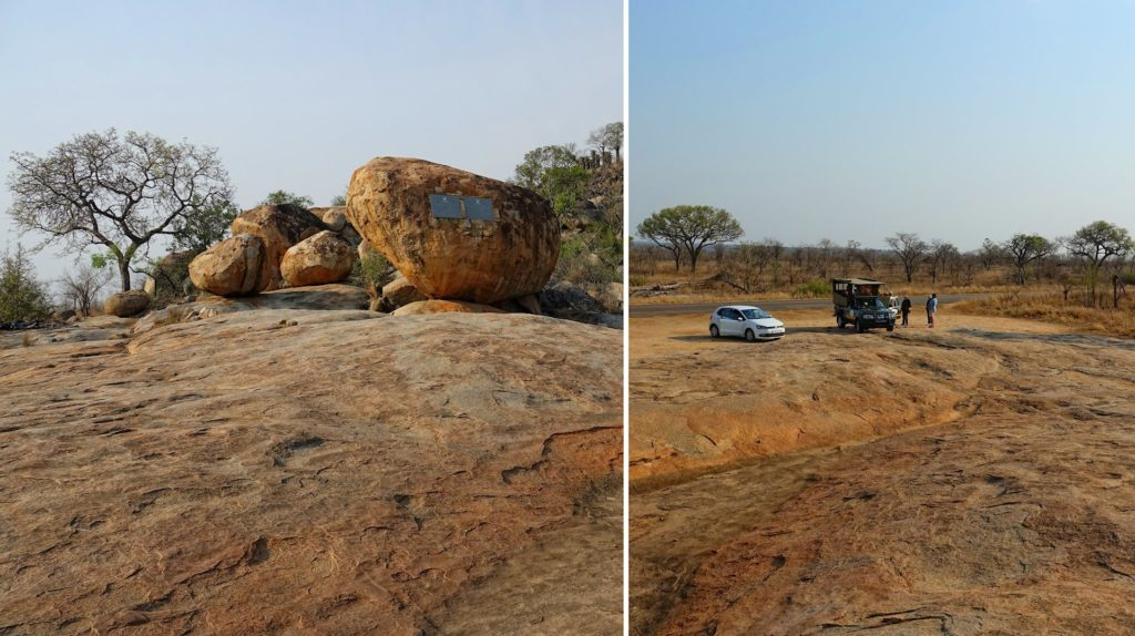 Photo of historic site, the Kruger Tablets, in Kruger Park, South Africa.