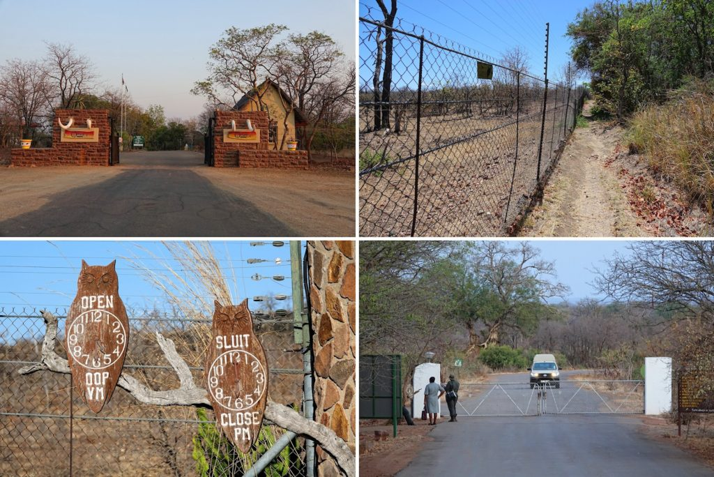 Photos from rest camps in Kruger Park, South Africa.
