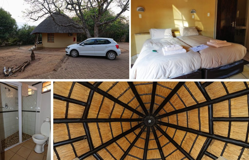 Photo of rondavel accommodation in Kruger Park, South Africa.