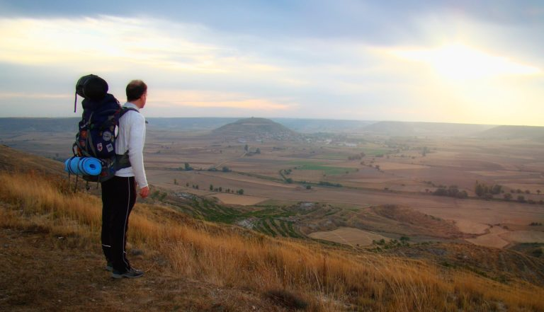 Photo of hiking the Camino de Santiago, Spain.