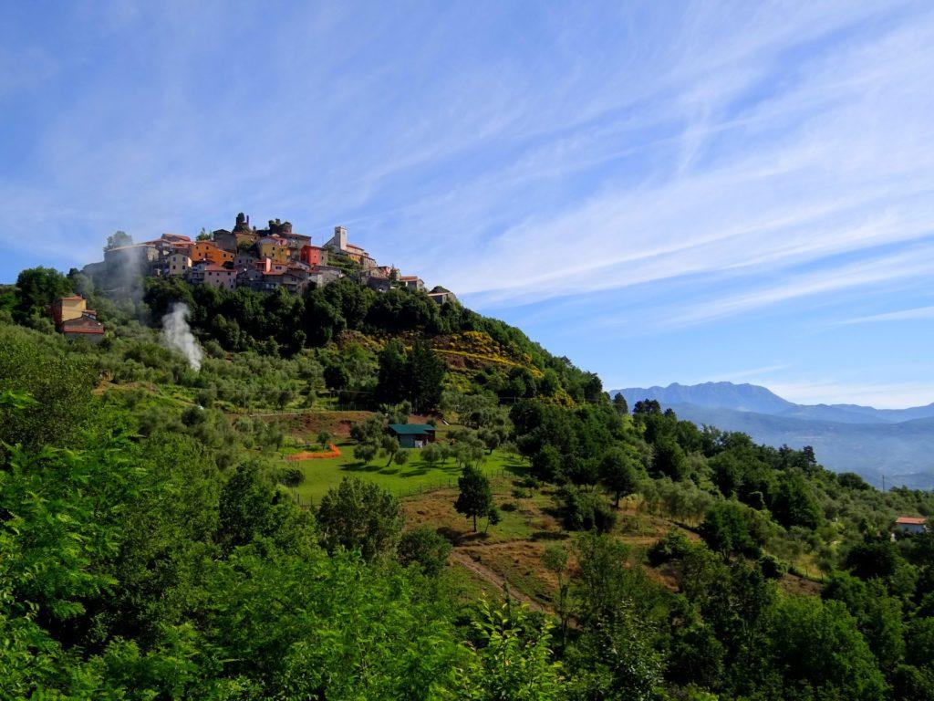 Photo of Bibola village, taken from the Via Francigena trail to Rome.