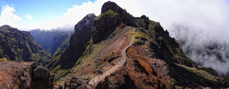 Photo of hiking trail on Madeira island, Portugal.