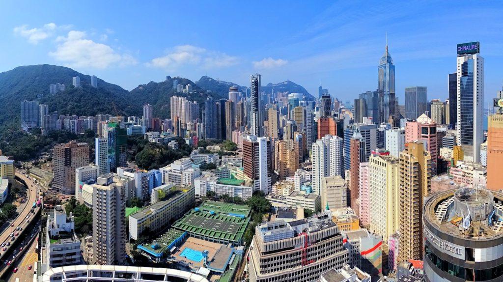 Photo of Hong Kong skyline.