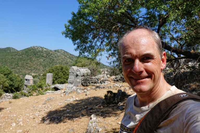 Photo of hot hiker on the Lycian Way in Turkey.