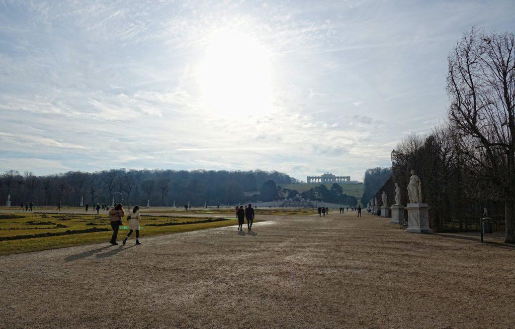 Photo of the Schönbrunner Schlosspark, the gardens surrounding the Schönbrunn Palace.