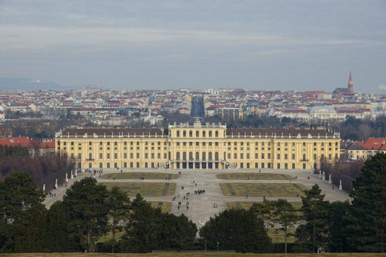 Photo of Schloss Schönbrunn southern facade.