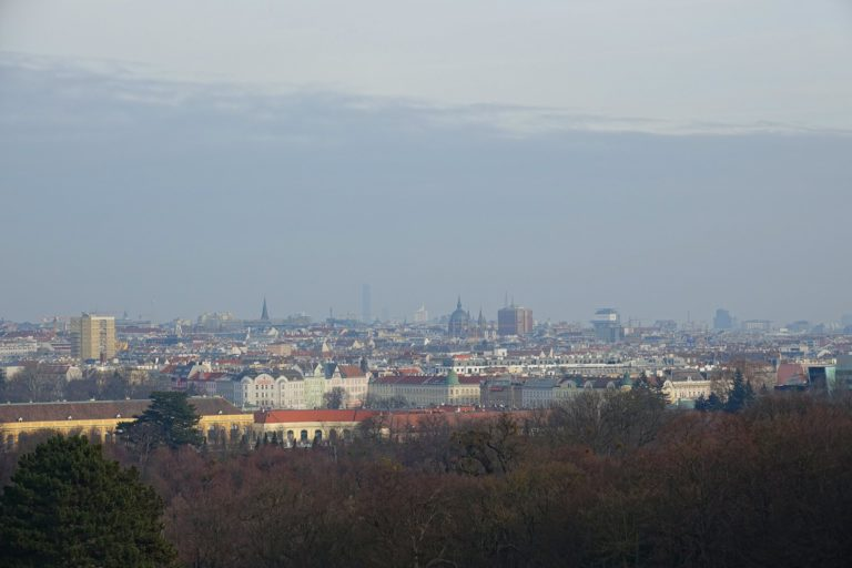 Photo of Vienna cityscape, seen from Schönbrunn.