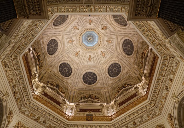 Photo of ceiling inside the Museum of Natural History in Vienna, Austria.