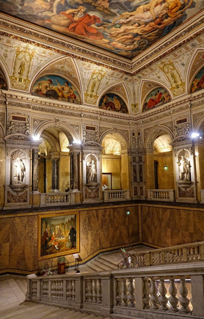 Photo of entrance hall in Vienna's Museum of Natural History.