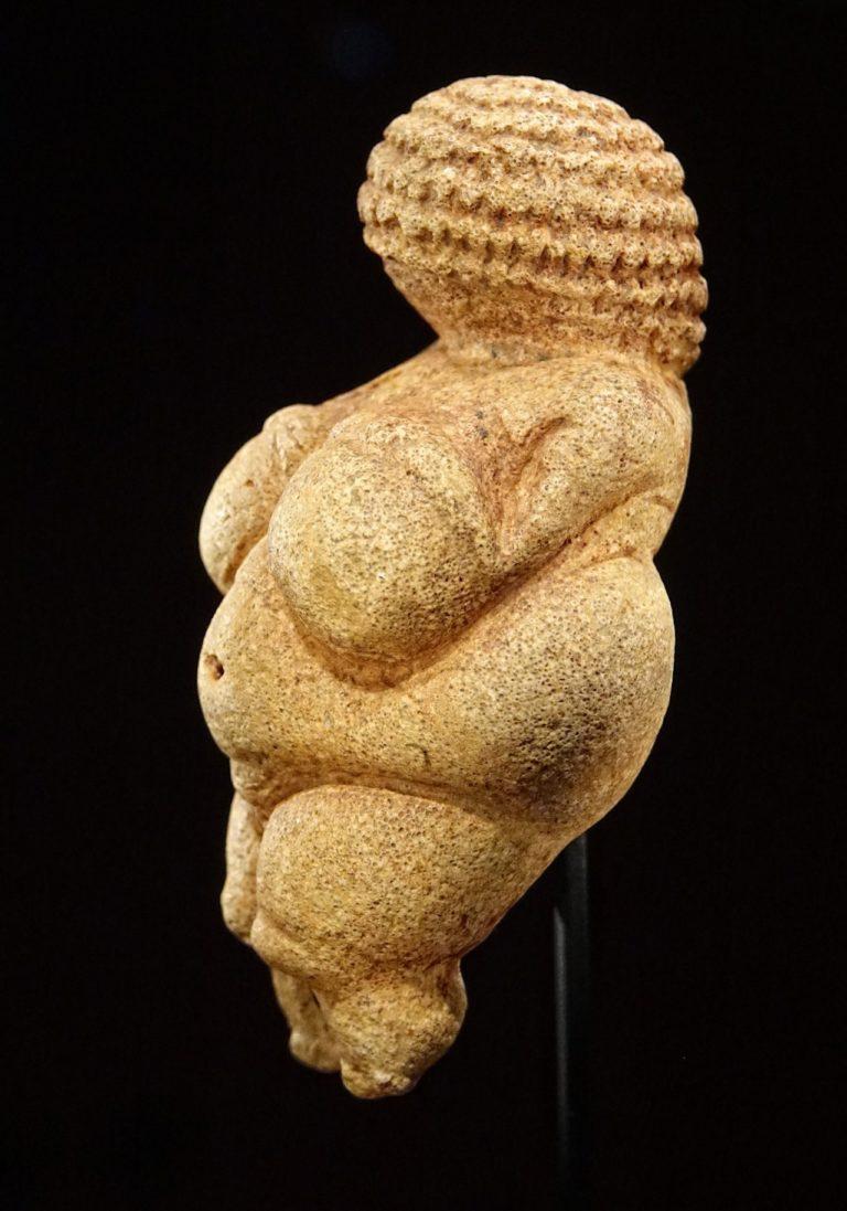 Photo of the Venus of Willendorf figurine.