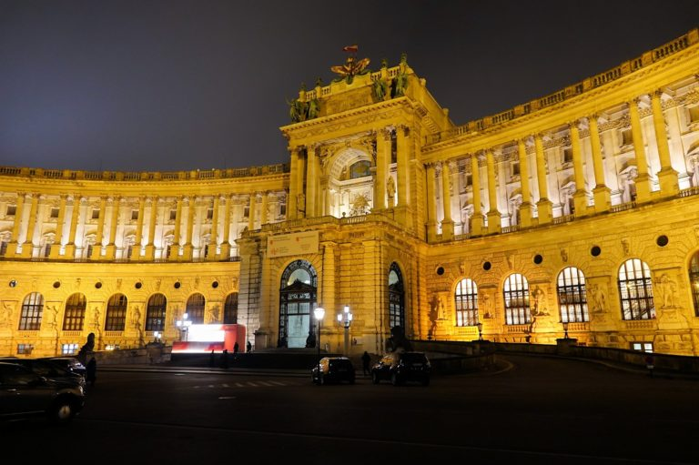 Photo of the National Library in Vienna, Austria.