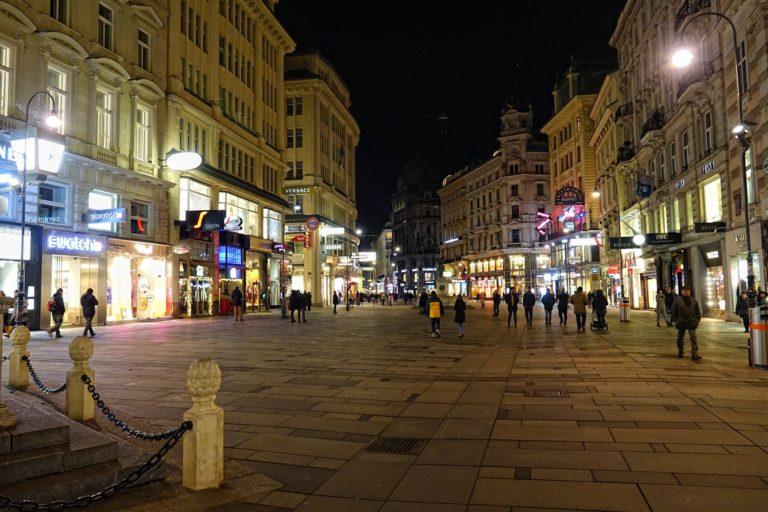 Photo of Grabenstrasse in the Mitte/city center of Vienna, Austria.