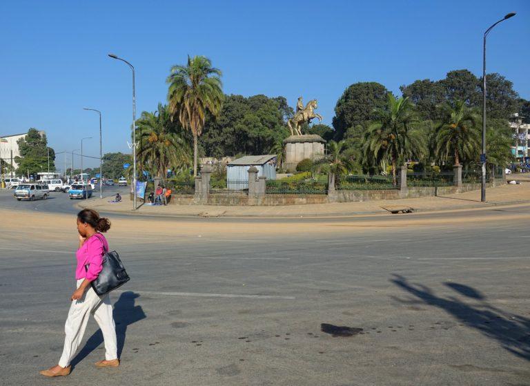 Photo of Minilik Square in Addis Ababa, Ethiopia