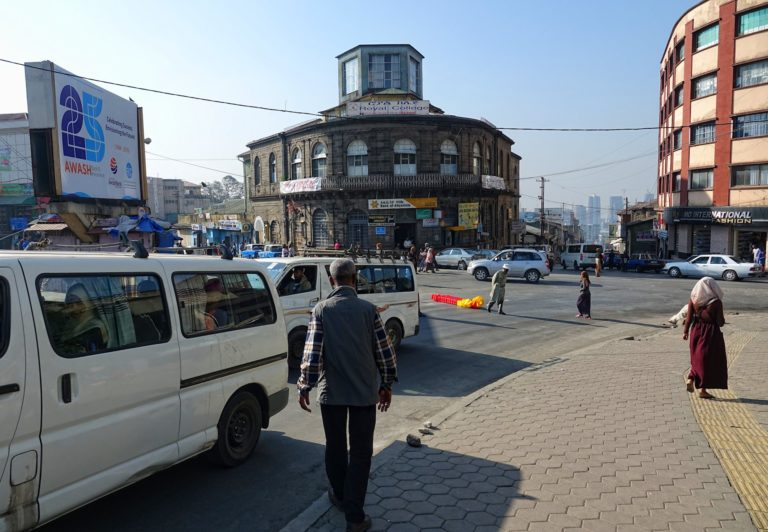 Photo of busy street in Addis Ababa, Ethiopia