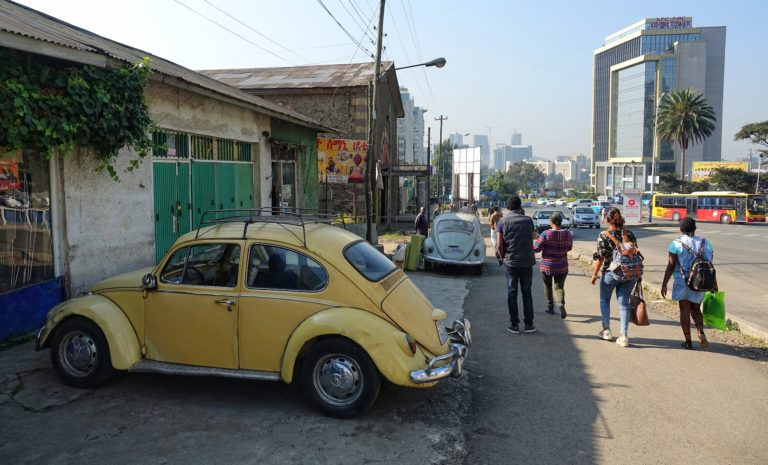 Photo of old Beetle cars in Addis Ababa, Ethiopia