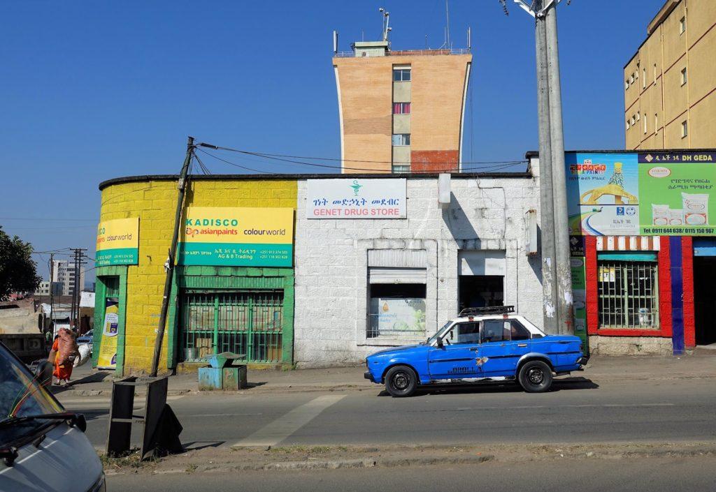Photo of colorful streets of Addis Ababa, Ethiopia