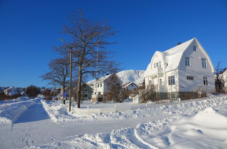 Photo of the whiteness of Norway in winter