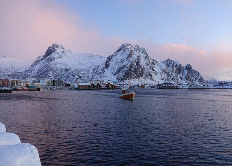 Photo of Svolvær on a winter morning