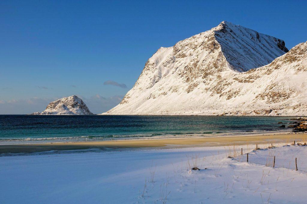 Photo of beautiful beaches in Lofoten, Norway