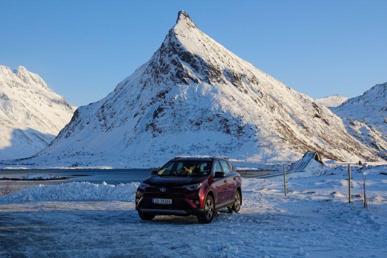 Photo of Toyota Rav4 2.0 in Lofoten, Norway in winter
