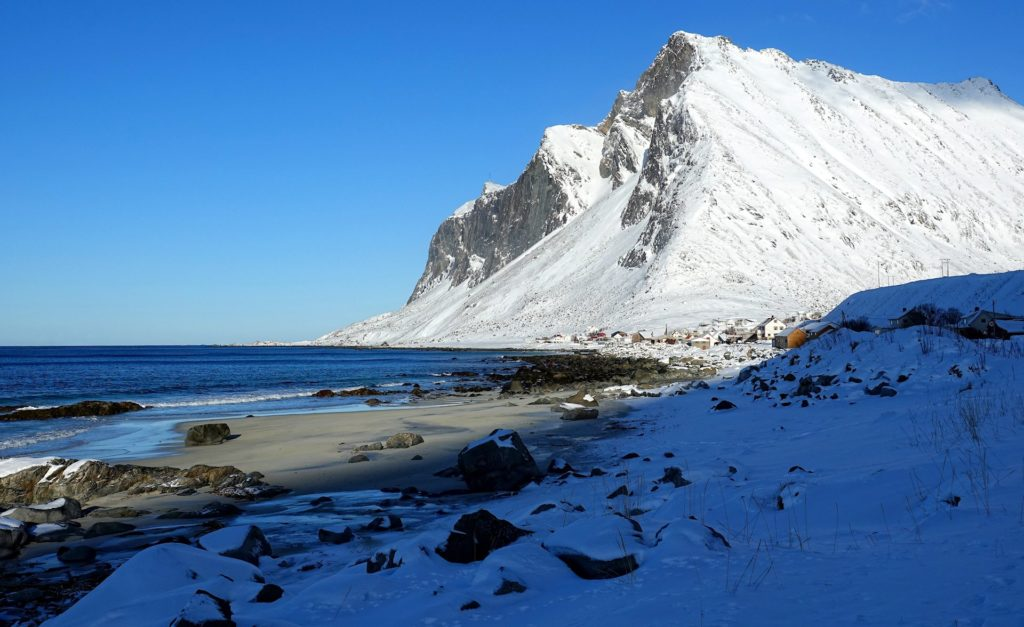Photo of Bjørnfjellet in Vikten, Lofoten, Norway