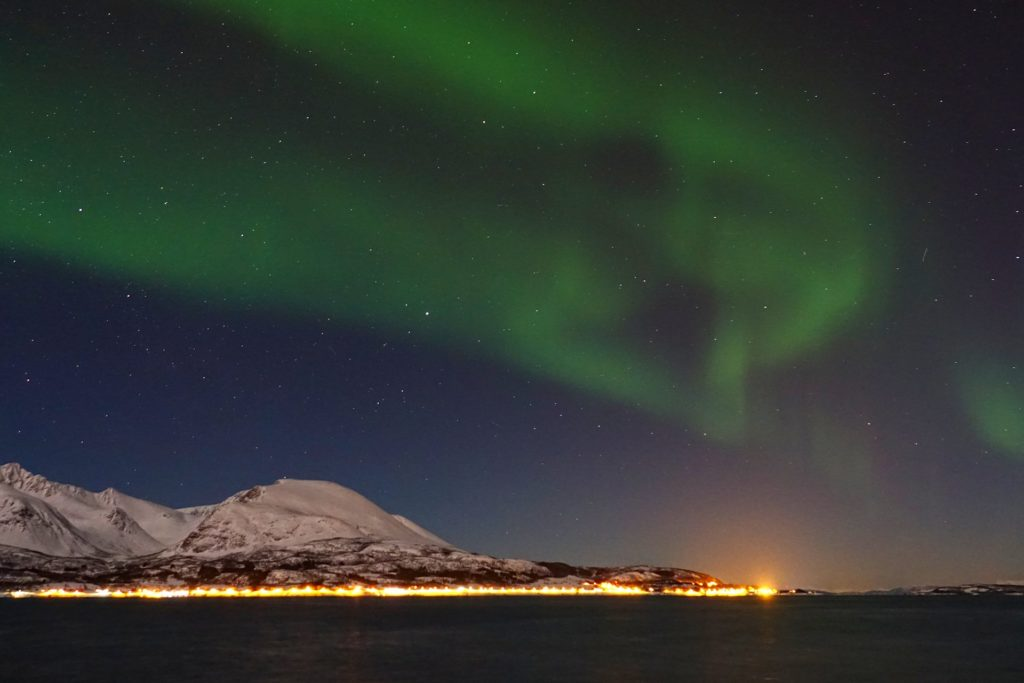 Photo of northern lights in Harstad, Norway