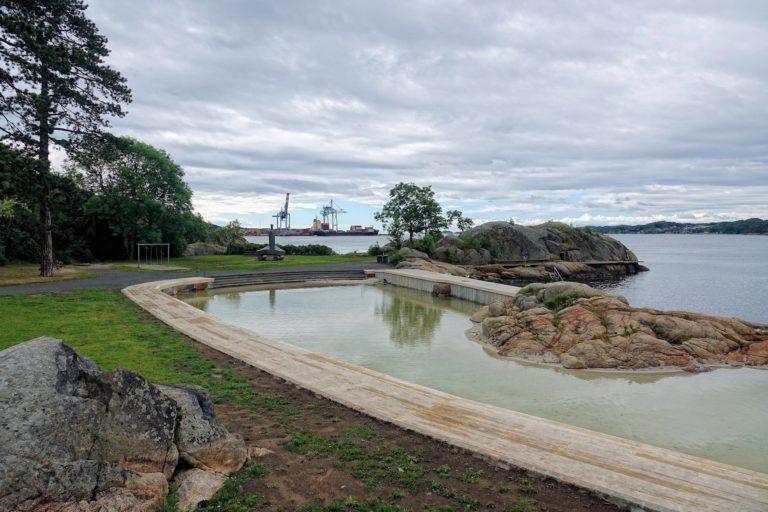 Photo of Tollerodden public beach in Larvik, Norway.