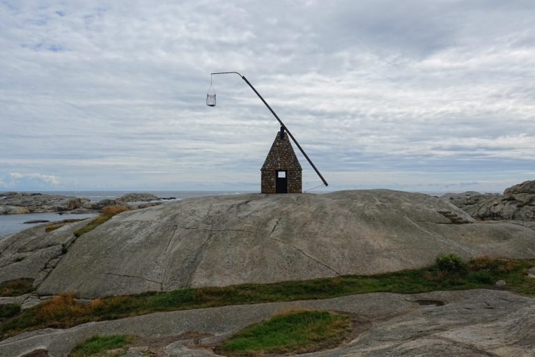 Photo of old lighthouse in Færder, Norway.