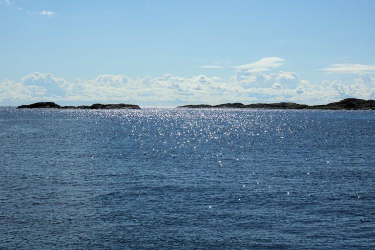 Photo of summer seascape in Oslofjorden, Norway.