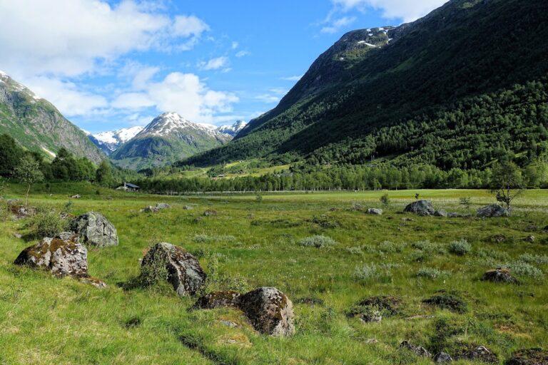 Photo of typical Vestland landscape, Barnakona in the back.