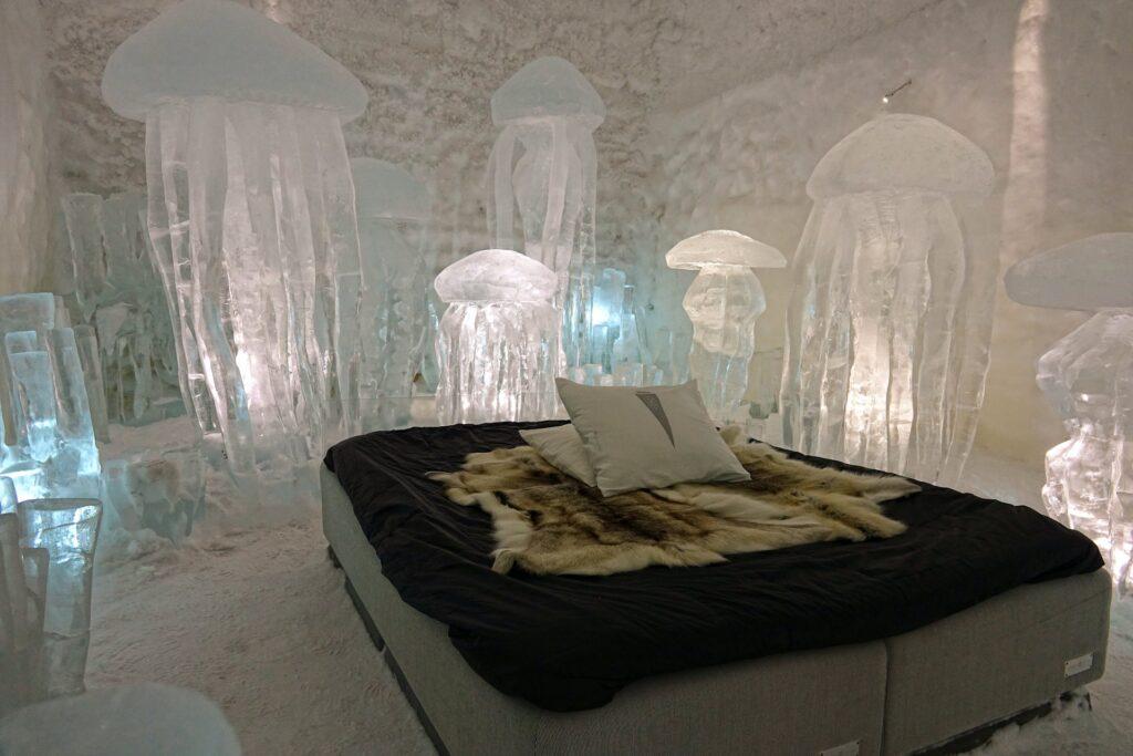 Photo of the room Hydro Smack at the Icehotel in Jukkasjärvi, Sweden.