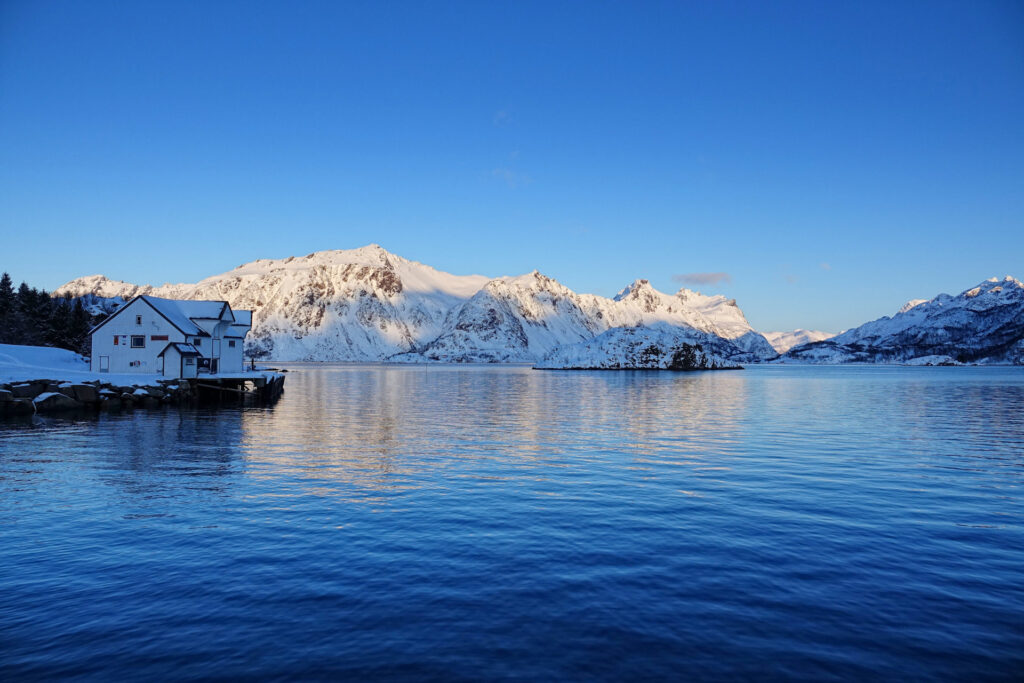 Trollholmen, Lofoten in winter.