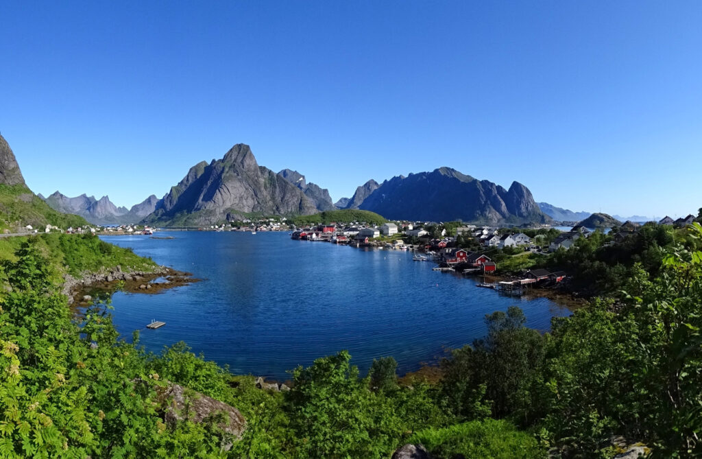 Reine, Norway in summer.