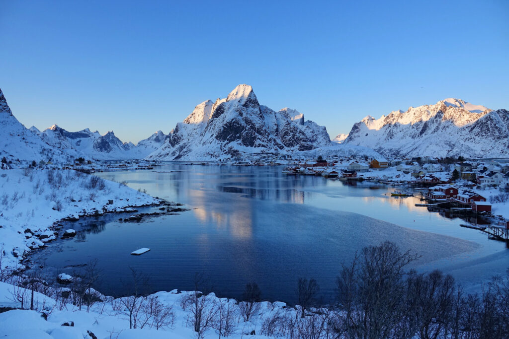 Reine, Norway in winter.