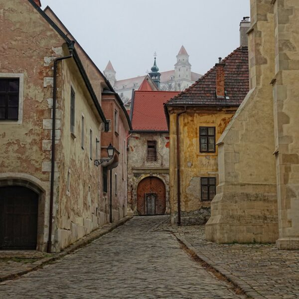 Farská street in Bratislava, Slovakia