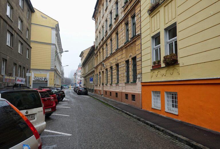 Photo of street in Bratislava, Slovakia.