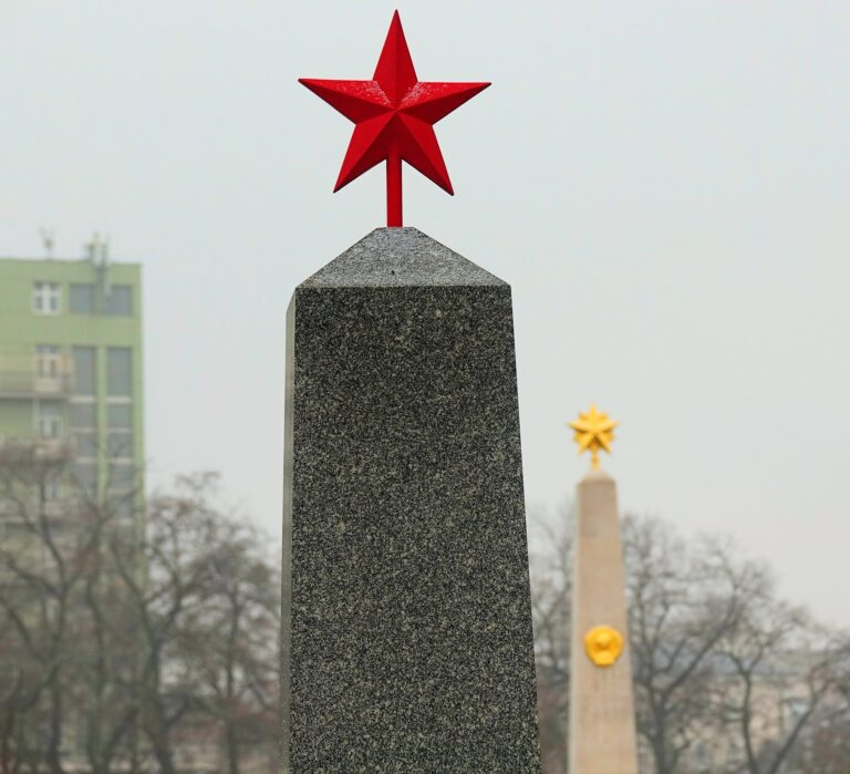 Photo of Red Star grave in Kerepesi Cemetery in Budapest, Hungary