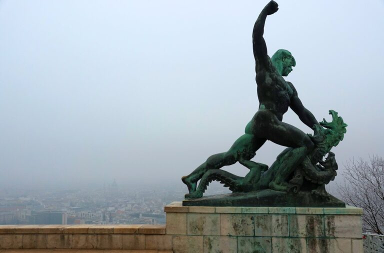 Photo of monument on top of Gellert Hill, Budapest, Hungary