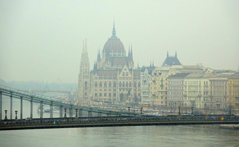 Photo of the Hungarian Parliament from across the river in Budapest, Hungary
