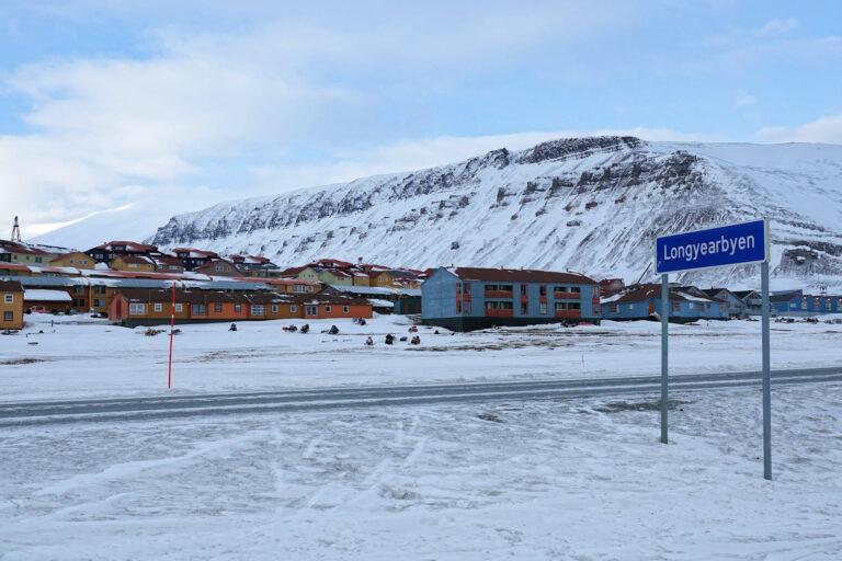 Photo of sign when entering Longyearbyen, Svalbard.