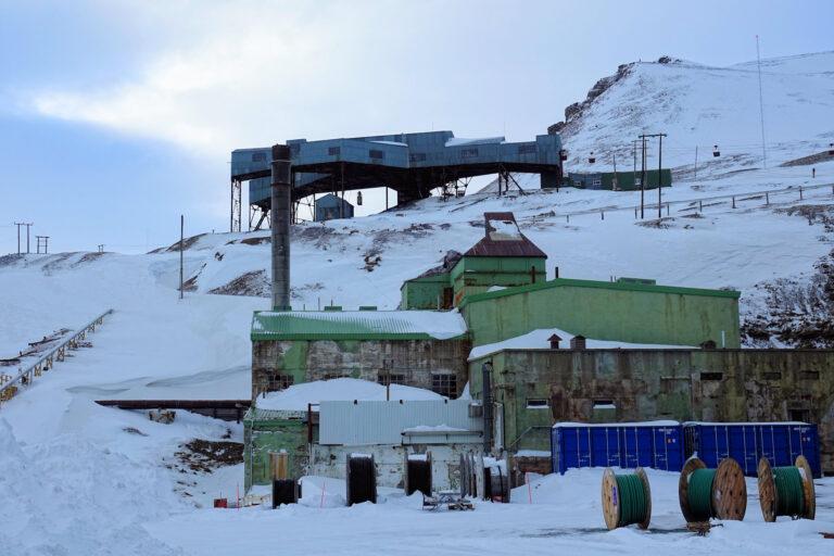 Photo of old buildings in Longyearbyen, Svalbard.