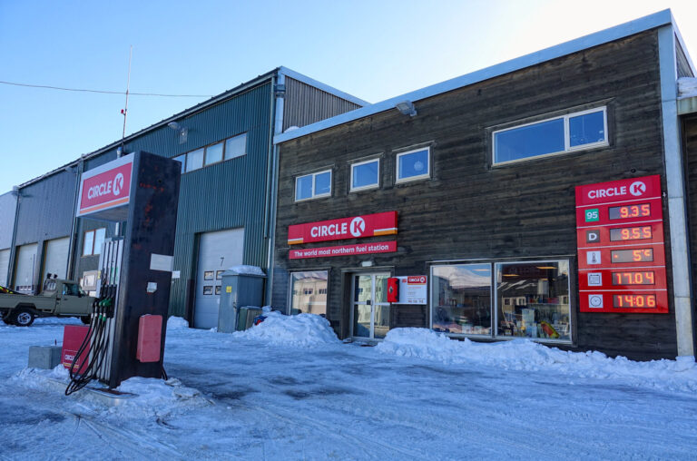 Photo of extremely northern petrol station in Longyearbyen, Svalbard.