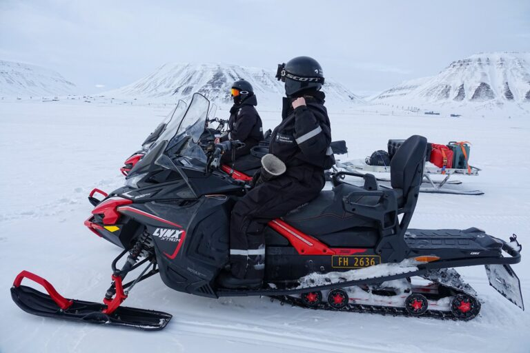 Photo of snowmobile trip with Svalbard Adventures starting in Longyearbyen, Svalbard.