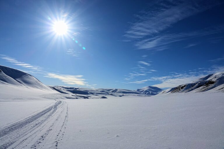 Photo from Eskerdalen, Svalbard. The highest peak in the background is Skolten, 1130 meters above sea level.