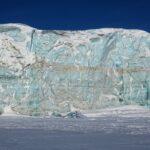 Photo of glacier in Mohnbukta, Svalbard.