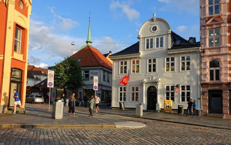 Photo of McDonald's in Bergen, Norway.