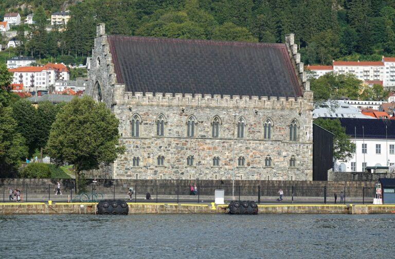 Photo of Håkonshallen at Bergenhus Fortress in Bergen, Norway.