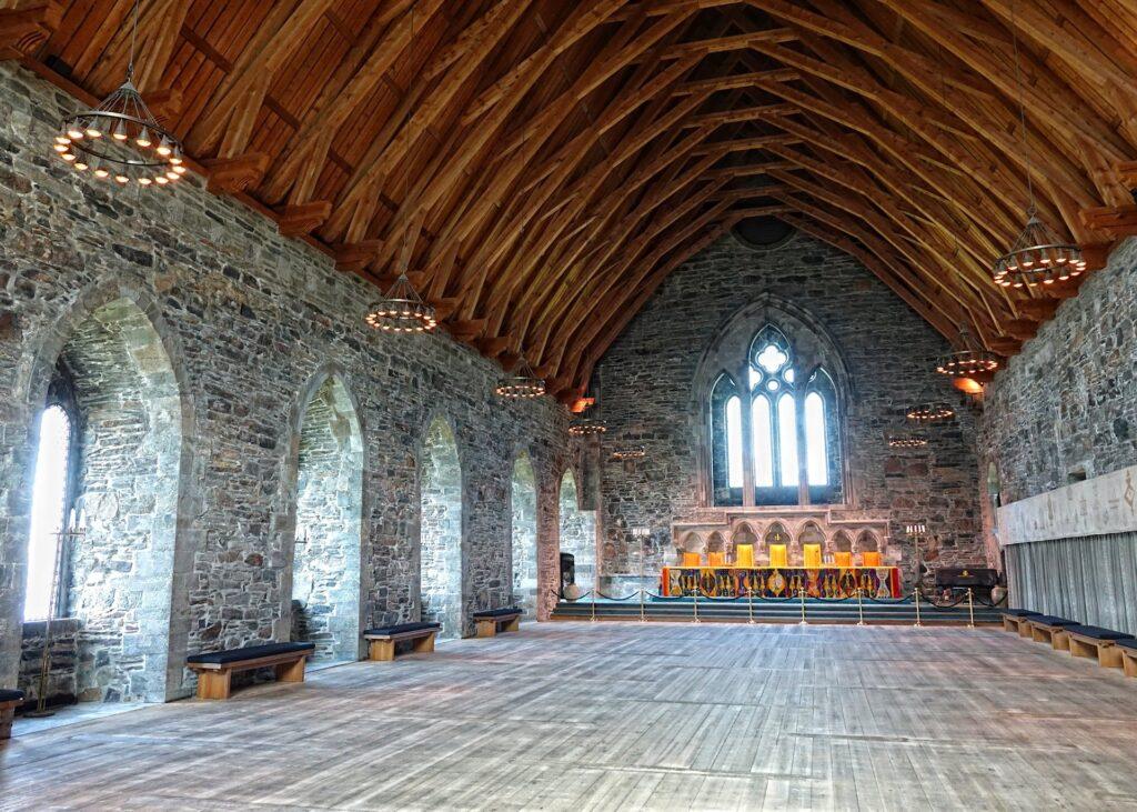 Photo of Håkonshallen interior, the main hall.