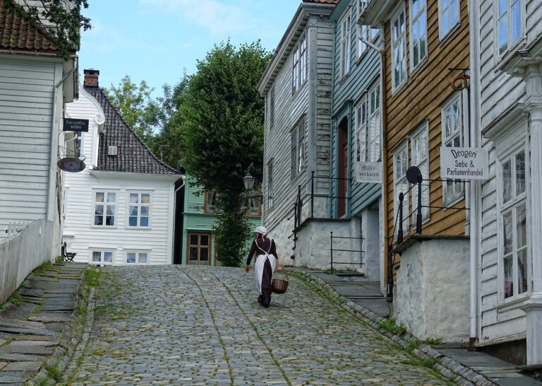Photo of street in the Old Bergen Museum.